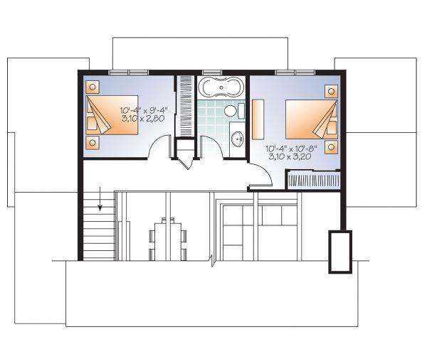 Home Plan - Cottage Floor Plan - Upper Floor Plan #23-2711