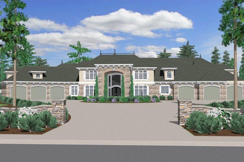 Exterior - Front Elevation Plan #509-70 - Houseplans.com