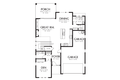 Contemporary Style House Plan - 4 Beds 2.5 Baths 2874 Sq/Ft Plan #48-705 Floor Plan - Main Floor Plan