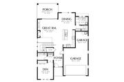Contemporary Style House Plan - 4 Beds 2.5 Baths 2874 Sq/Ft Plan #48-705 Floor Plan - Main Floor