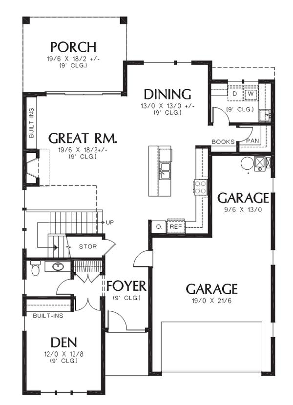 Contemporary Floor Plan - Main Floor Plan #48-705