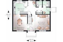 Colonial Floor Plan - Main Floor Plan Plan #23-736