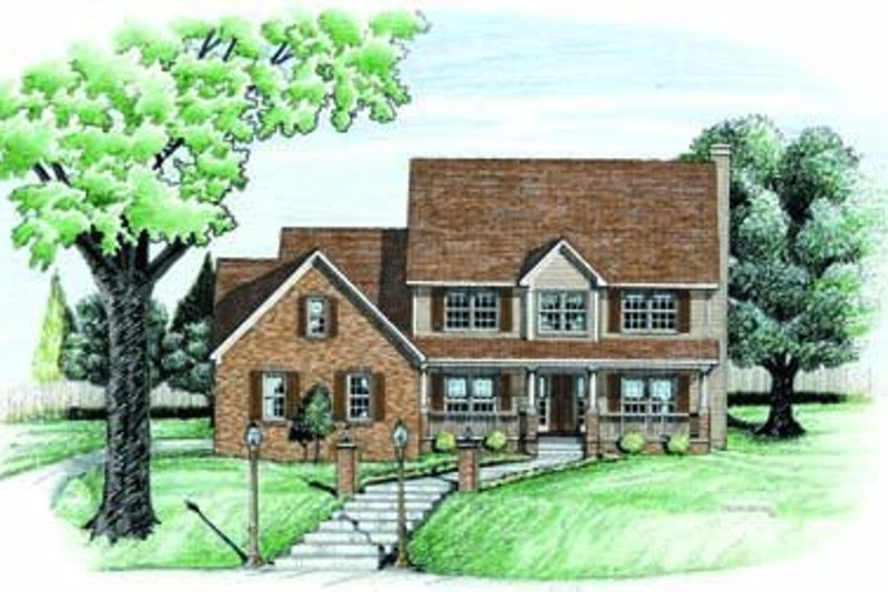 Traditional Exterior - Front Elevation Plan #20-830 - Houseplans.com