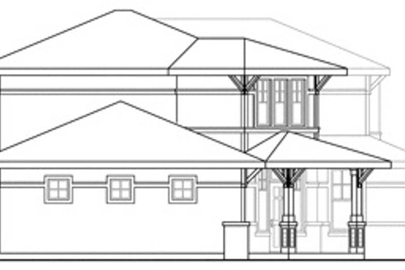 Traditional Exterior - Other Elevation Plan #124-465 - Houseplans.com
