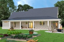 House Design - Farmhouse Exterior - Rear Elevation Plan #119-436