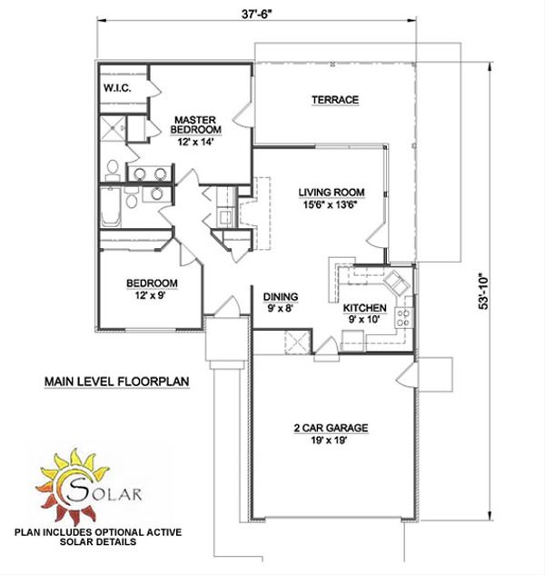 Ranch Floor Plan - Main Floor Plan Plan #116-151