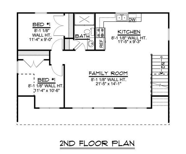 House Design - Craftsman Floor Plan - Upper Floor Plan #1064-91