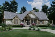 Craftsman Style House Plan - 3 Beds 2 Baths 1848 Sq/Ft Plan #120-171 Exterior - Front Elevation