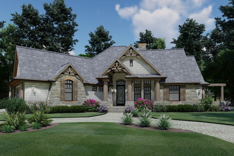 Craftsman Exterior - Front Elevation Plan #120-171