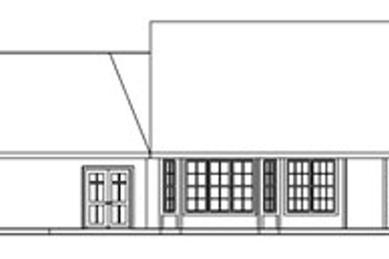 Traditional Exterior - Rear Elevation Plan #124-721 - Houseplans.com