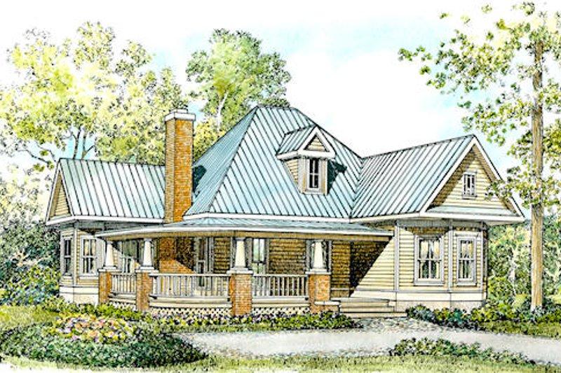 Dream House Plan - Farmhouse Exterior - Front Elevation Plan #140-133