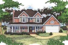 Country Exterior - Front Elevation Plan #120-155