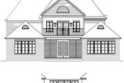 European Style House Plan - 4 Beds 3.5 Baths 3682 Sq/Ft Plan #15-226 Exterior - Rear Elevation