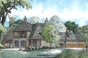 European Style House Plan - 6 Beds 6.5 Baths 6696 Sq/Ft Plan #17-2366 Exterior - Rear Elevation