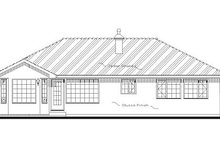 Home Plan - Traditional Exterior - Rear Elevation Plan #18-1004