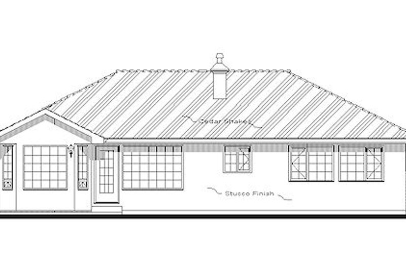 Traditional Exterior - Rear Elevation Plan #18-1004 - Houseplans.com