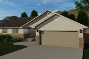 Traditional Style House Plan - 3 Beds 2.5 Baths 1660 Sq/Ft Plan #1060-58 Exterior - Front Elevation