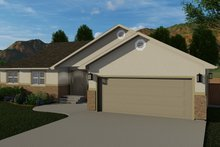 Dream House Plan - Traditional Exterior - Front Elevation Plan #1060-58