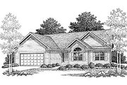 Traditional Style House Plan - 3 Beds 2 Baths 1649 Sq/Ft Plan #70-164 Exterior - Front Elevation