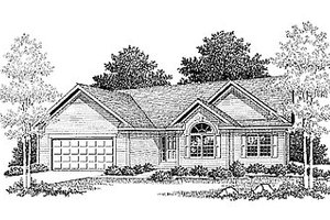 Traditional Exterior - Front Elevation Plan #70-164