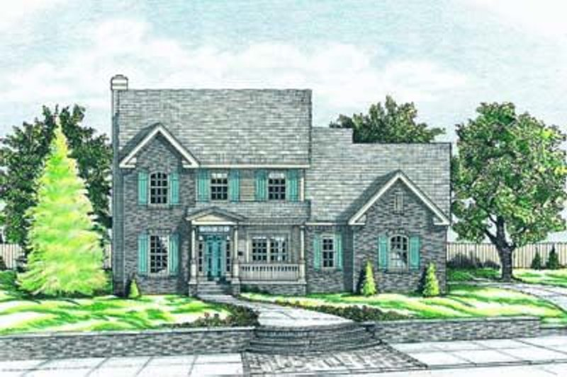 Colonial Exterior - Front Elevation Plan #20-538