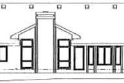 Ranch Style House Plan - 3 Beds 2.5 Baths 1842 Sq/Ft Plan #20-578 Exterior - Rear Elevation