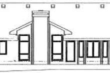 Dream House Plan - Ranch Exterior - Rear Elevation Plan #20-578