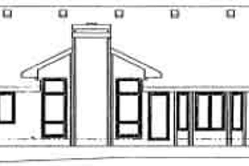 Ranch Exterior - Rear Elevation Plan #20-578 - Houseplans.com
