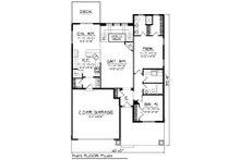 Ranch Floor Plan - Main Floor Plan Plan #70-1264