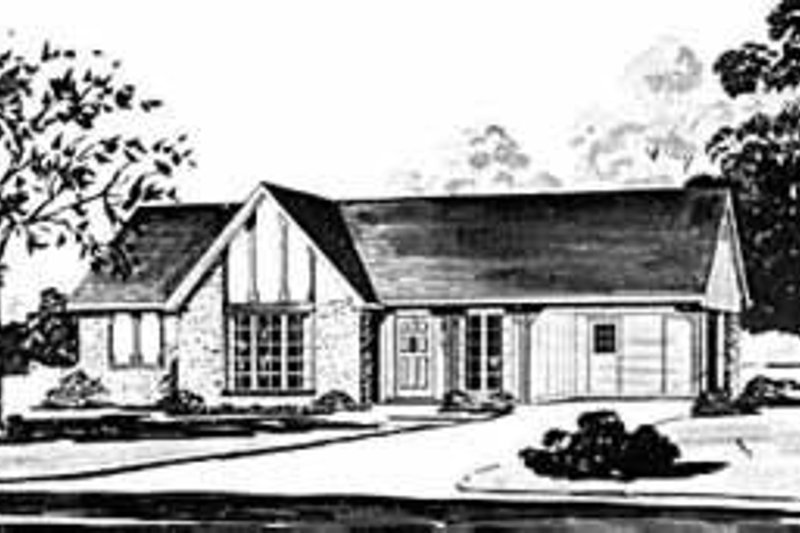 Traditional Style House Plan - 3 Beds 1 Baths 998 Sq/Ft Plan #36-355 Exterior - Front Elevation