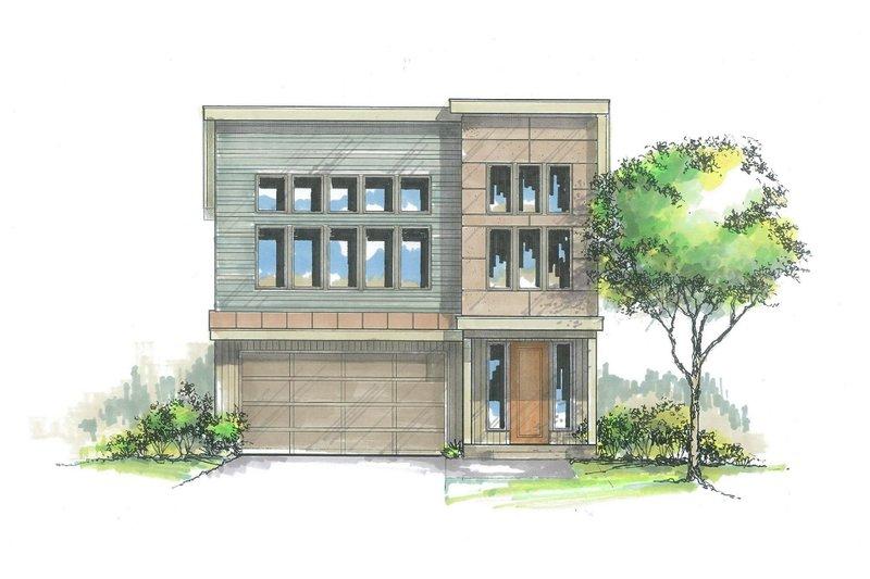 Architectural House Design - Craftsman Exterior - Front Elevation Plan #53-587