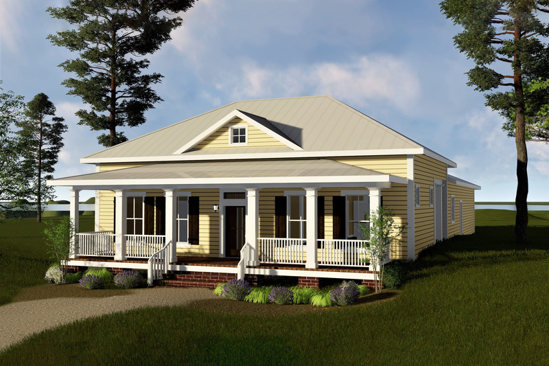 Traditional Exterior - Front Elevation Plan #44-193 - Houseplans.com