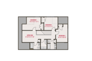 Craftsman Style House Plan - 4 Beds 3.5 Baths 2255 Sq/Ft Plan #461-66 Floor Plan - Upper Floor Plan