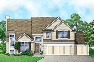 Traditional Exterior - Front Elevation Plan #67-165