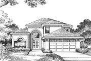 Modern Style House Plan - 4 Beds 2.5 Baths 2182 Sq/Ft Plan #417-212 Exterior - Other Elevation