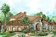 Mediterranean Style House Plan - 5 Beds 5.5 Baths 4403 Sq/Ft Plan #27-203 Exterior - Other Elevation