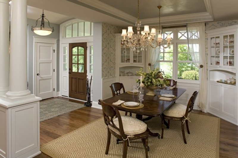Traditional Interior - Dining Room Plan #56-604 - Houseplans.com