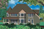 Victorian Style House Plan - 4 Beds 3 Baths 2518 Sq/Ft Plan #48-108 Exterior - Rear Elevation
