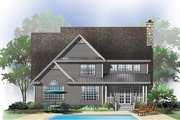 Traditional Style House Plan - 4 Beds 2.5 Baths 2425 Sq/Ft Plan #929-695 Exterior - Rear Elevation