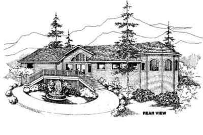Modern Exterior - Front Elevation Plan #60-600 - Houseplans.com