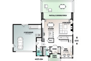 Contemporary Style House Plan - 3 Beds 2.5 Baths 2042 Sq/Ft Plan #23-2645 Floor Plan - Main Floor Plan
