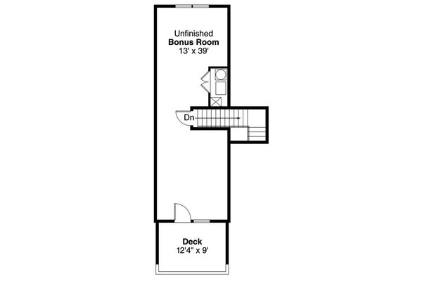 Cottage Floor Plan - Upper Floor Plan Plan #124-916