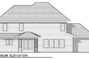 Bungalow Style House Plan - 4 Beds 2.5 Baths 2274 Sq/Ft Plan #70-935 Exterior - Rear Elevation