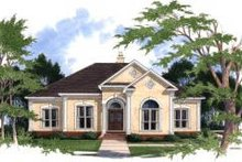 Mediterranean Exterior - Front Elevation Plan #37-205