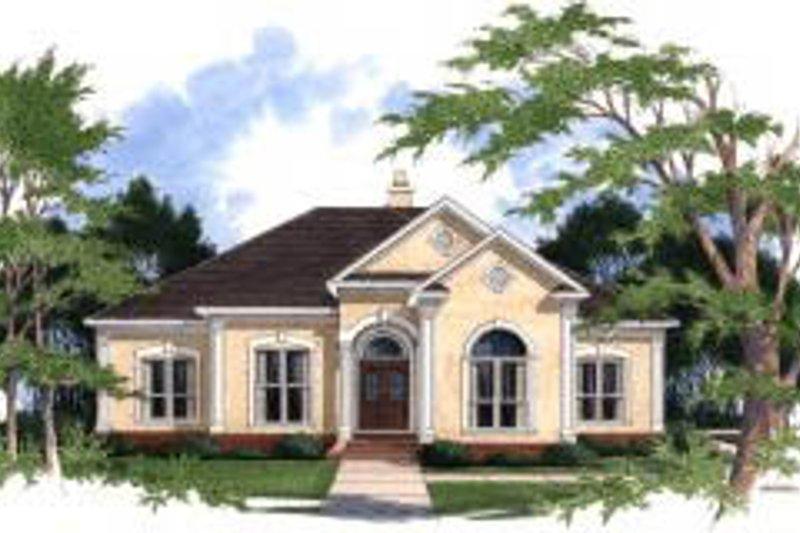 Architectural House Design - Mediterranean Exterior - Front Elevation Plan #37-205