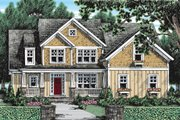 Craftsman Style House Plan - 4 Beds 3 Baths 2338 Sq/Ft Plan #927-3 Exterior - Front Elevation
