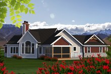 Craftsman Exterior - Rear Elevation Plan #70-1192