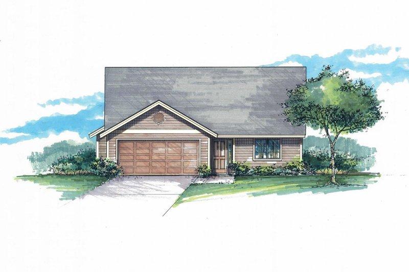 Architectural House Design - Craftsman Exterior - Front Elevation Plan #53-594