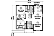 Bungalow Style House Plan - 3 Beds 1 Baths 1178 Sq/Ft Plan #25-4636 Floor Plan - Main Floor Plan