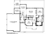 Farmhouse Style House Plan - 4 Beds 4 Baths 3205 Sq/Ft Plan #70-1469 Floor Plan - Main Floor Plan